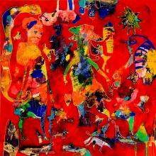100 x 100 cm 2012, Girl friends gossip