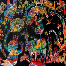 110 x 110 cm 2012, All in the city SOLD