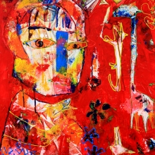 50 x 60cm 2012 , On safari, Gallery Art Sawa SOLD