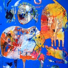 50 x 60 cm 2012, The pander girl, Auction refuges Syrien SOLD
