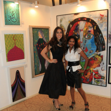 2015 Exhibition with xenia Gazi, The Adress Hotel Dubai