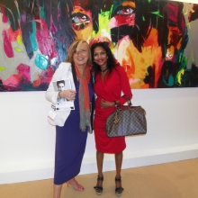 2015 World Art Dubai,  With Spanish artist Francoise Nielly
