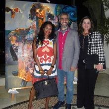 2016 Art exhibition with Syrien artist in the middle  Loai Salahedeen hosted by Patricia Christie Galleries to right, One and Only hotel