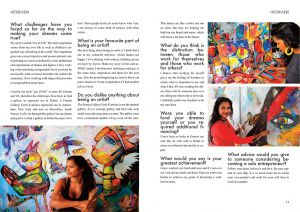 "2016 Interview with Shefali Ranthe by Anna Fani ""The Writer Entrepreneur"" Page 16-17"